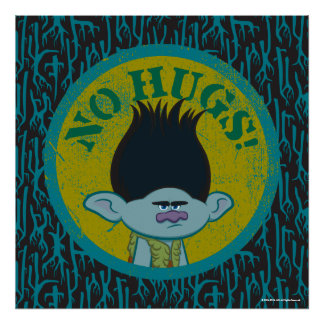 Trolls | Branch - No Hugs! 2 Poster