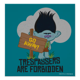 Trolls | Branch - Trespassers are Forbidden 2 Poster