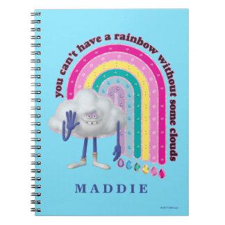 Trolls   Cloud Guy Rainbow Spiral Notebook