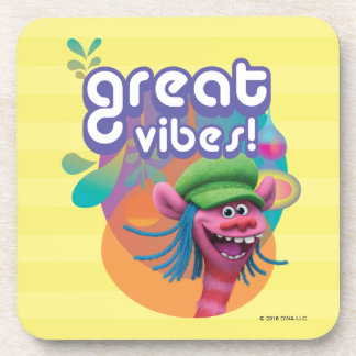 Trolls | Cooper - Great Vibes! Drink Coaster