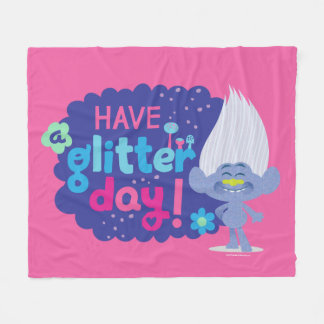 Trolls | Guy Diamond - Have a Glitter Day! Fleece Blanket