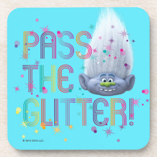 Trolls | Guy Diamond - Pass the Glitter Beverage Coaster