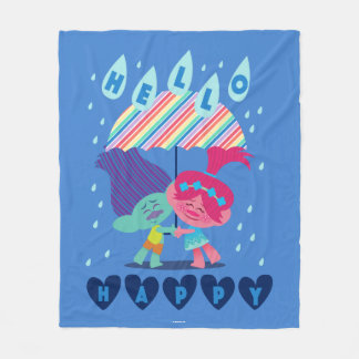 Trolls | Happy Rain Drops Fleece Blanket