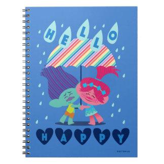 Trolls   Happy Rain Drops Notebook