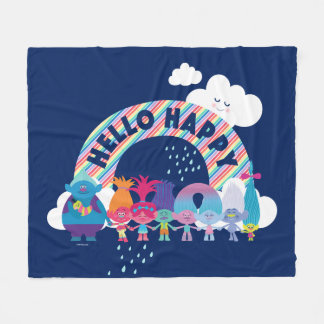 Trolls | Happy Rainbow Fleece Blanket