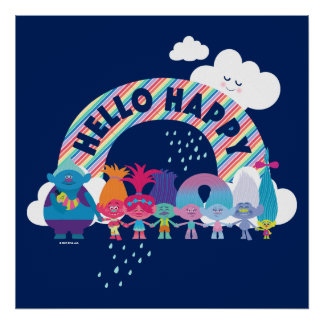 Trolls | Happy Rainbow Poster