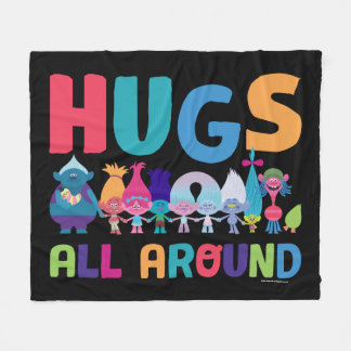 Trolls | Hugs All Around Fleece Blanket