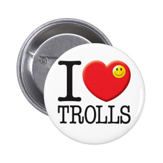 Trolls Love 6 Cm Round Badge