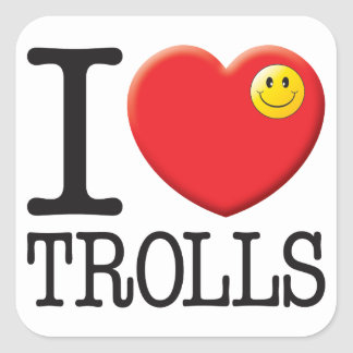 Trolls Love Square Stickers