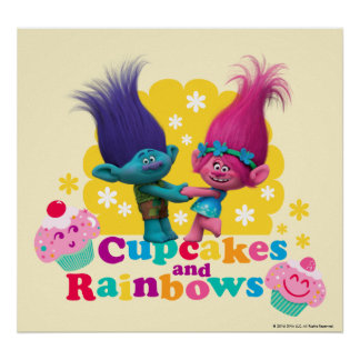 Trolls | Poppy & Branch - Cupcakes and Rainbows 2 Poster