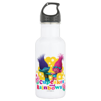 Trolls | Poppy & Branch - Cupcakes and Rainbows 532 Ml Water Bottle