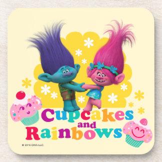 Trolls | Poppy & Branch - Cupcakes and Rainbows Coaster