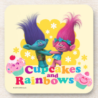 Trolls | Poppy & Branch - Cupcakes and Rainbows Drink Coasters