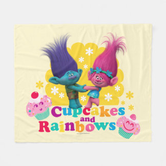 Trolls | Poppy & Branch - Cupcakes and Rainbows Fleece Blanket
