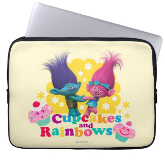 Trolls | Poppy & Branch - Cupcakes and Rainbows Laptop Computer Sleeve