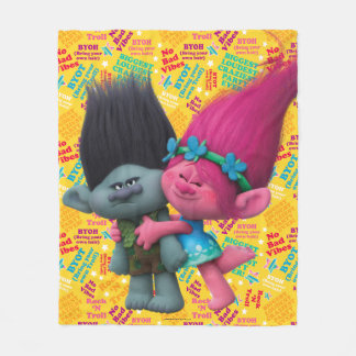 Trolls | Poppy & Branch - No Bad Vibes Fleece Blanket