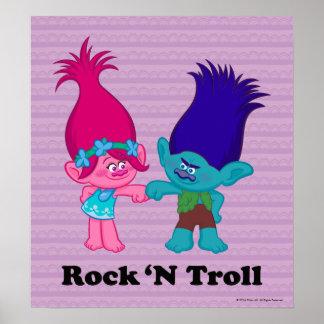 Trolls | Poppy & Branch - Rock 'N Troll Poster