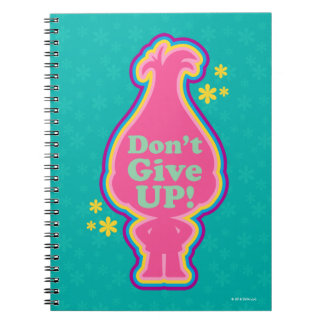 Trolls | Poppy - Don't Give Up! Notebook