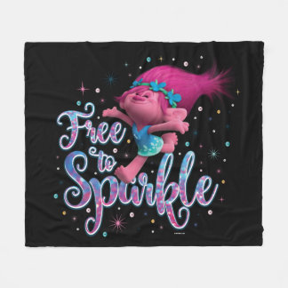 Trolls   Poppy Free to Sparkle Fleece Blanket