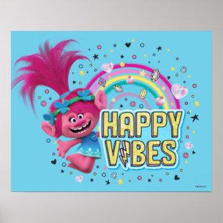 Trolls | Poppy Happy Vibes Poster