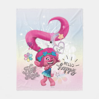 Trolls | Poppy Hello Happy Fleece Blanket