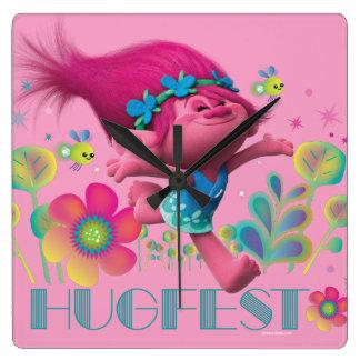 Trolls | Poppy - Hugfest Square Wall Clock