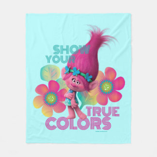 Trolls | Poppy - Show Your True Colors Fleece Blanket