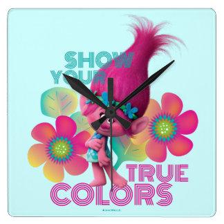Trolls | Poppy - Show Your True Colors Wallclock
