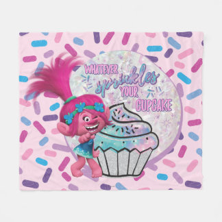 Trolls | Poppy Sprinkle your Cupcake Fleece Blanket