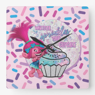 Trolls | Poppy Sprinkle your Cupcake Square Wall Clock