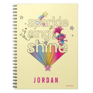 Trolls   Poppy's Sparkle Sing & Shine Spiral Notebook