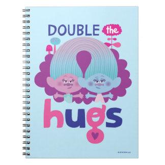 Trolls | Satin & Chenille - Double the Hugs Notebook