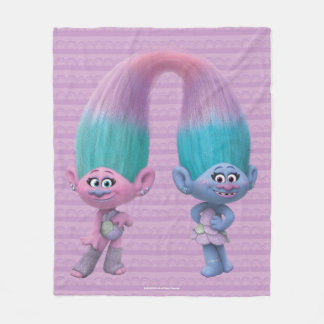 Trolls | Satin & Chenille Fleece Blanket