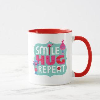 Trolls   Smile, Hug, Repeat Mug