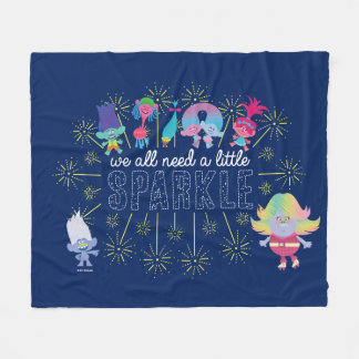 Trolls | The Snack Pack Sparkles Fleece Blanket