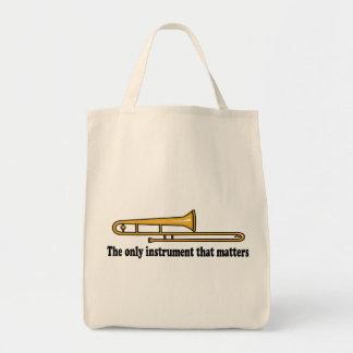 Trombone Attitude Grocery Tote Bag