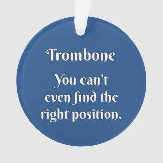 Trombone Attitude! Ornament