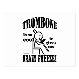 Trombone, Brain Freeze Postcard