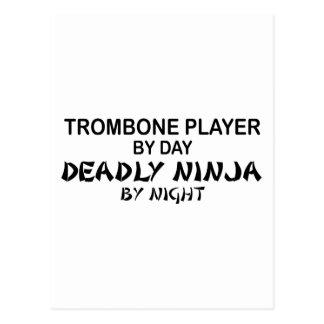 Trombone Deadly Ninja by Night Postcard