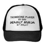 Trombone Deadly Ninja by Night Trucker Hats
