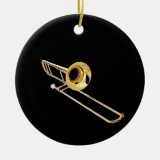 """""""Trombone"""" design gifts and products Round Ceramic Decoration"""
