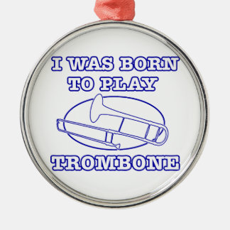 trombone Designs Christmas Ornament