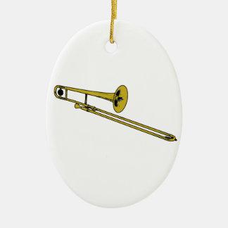 Trombone Gear Christmas Ornament