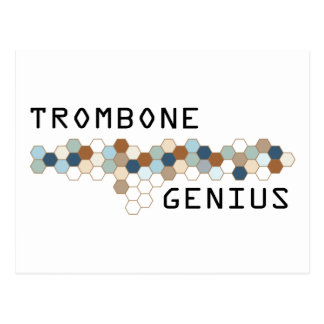 Trombone Genius Postcard
