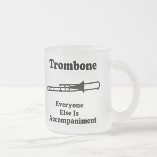 Trombone Gift Frosted Glass Mug