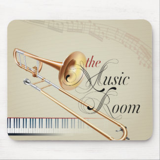Trombone Music Room Mouse Pad