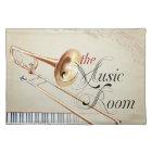 Trombone Music Room Placemat