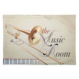 Trombone Music Room Placemat