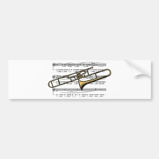 Trombone Musical 14 B Bumper Sticker