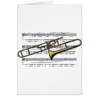 Trombone Musical 14 B Greeting Card